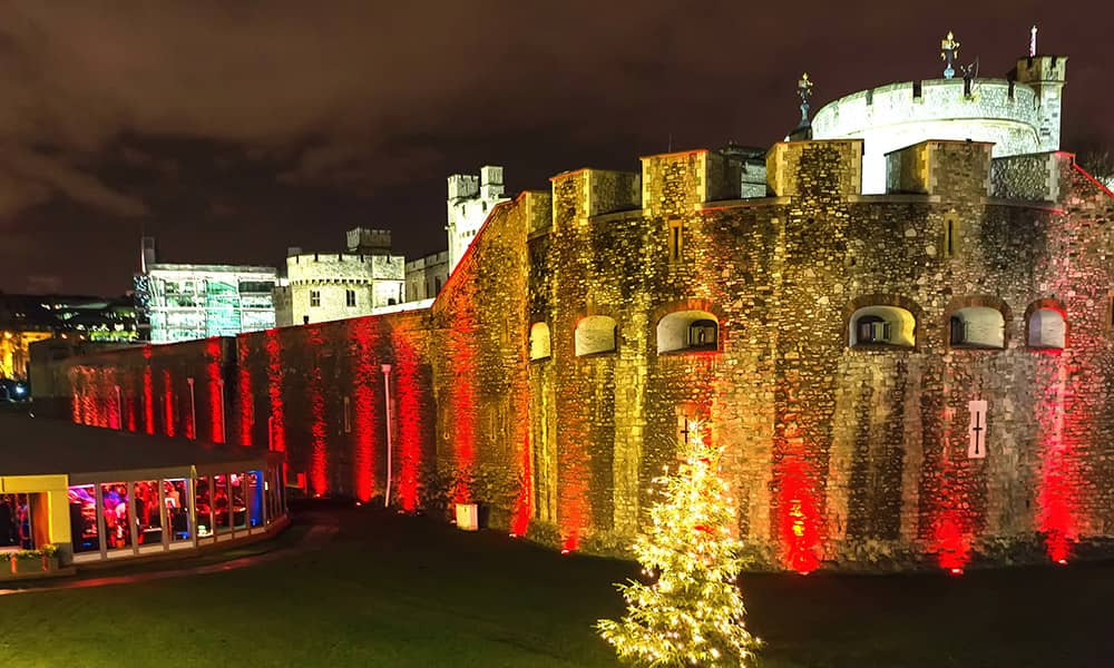 Pavilion tower of London Christmas Party