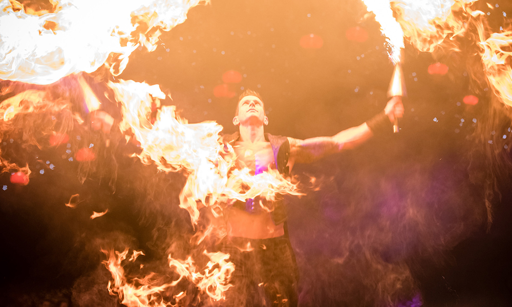 Fire Entertainers at Electric Jungle Christmas Party