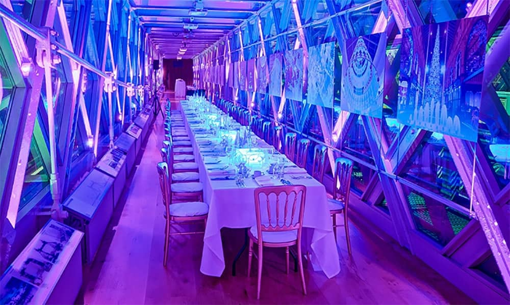 London tower bridge walkways christmas party hire
