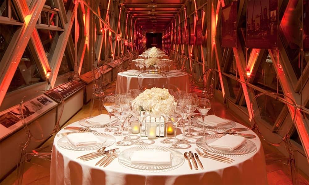 London tower bridge walkways christmas party hire