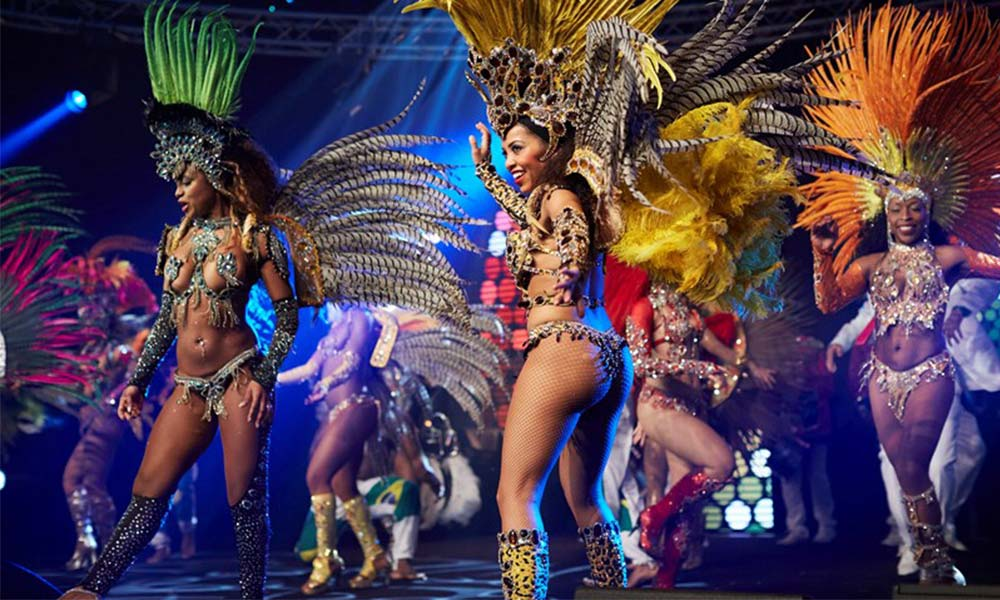 carnival christmas party theme, rio brazil xmas