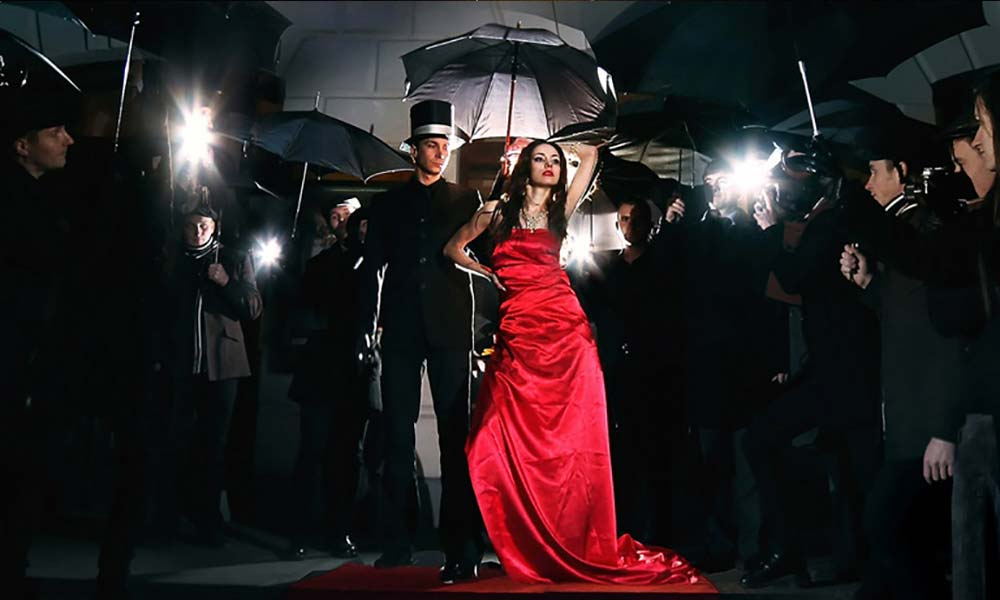 vip red carpet Riviera themed christmas party