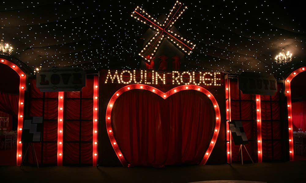 burlesque and moulin rouge christmas party theme