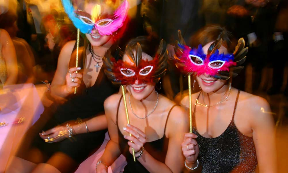 masquerade ball christmas party theme