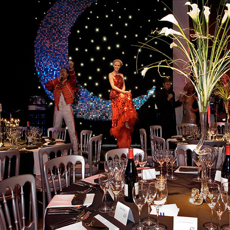 London Madame Tussauds Christmas Party, dining with the stars xmas party theme