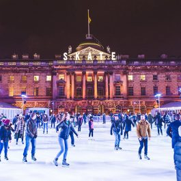 Christmas Party At Somerset House Ice Rink