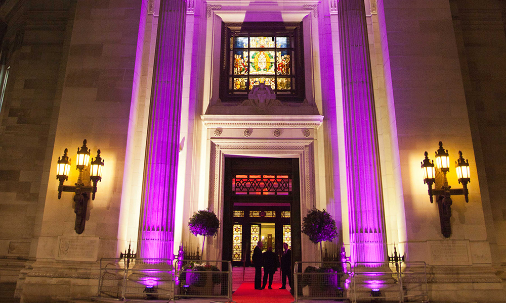 The Grand Temple Christmas Party Entrance